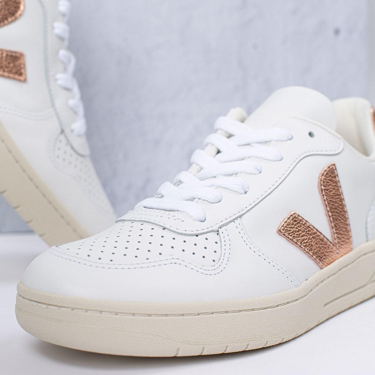 Tênis Vert Shoes V-10 Leather Extra White Venus VX022279