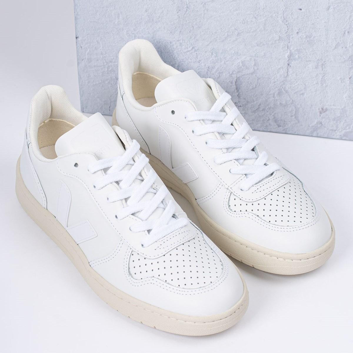 Tênis Vert Shoes V-10 Leather Extra White VX021270