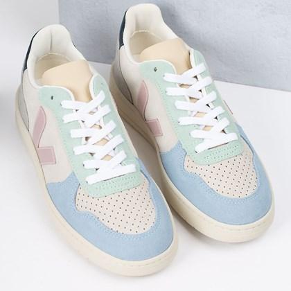 Tênis Vert Shoes V-10 Suede Multico Natural Babe VX032495