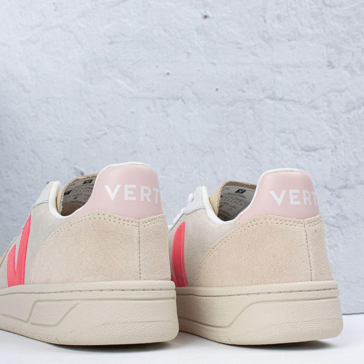 Tênis Vert Shoes V-10 Suede Multico Natural Rose VX032188