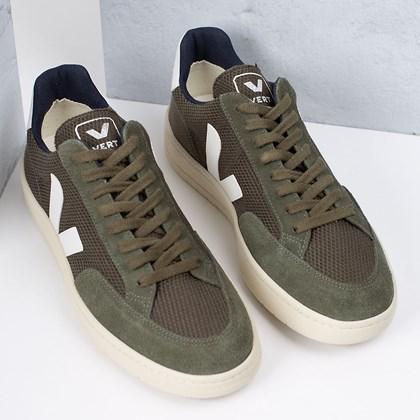 Tênis Vert Shoes V-12 B-Mesh Olive White XD011665