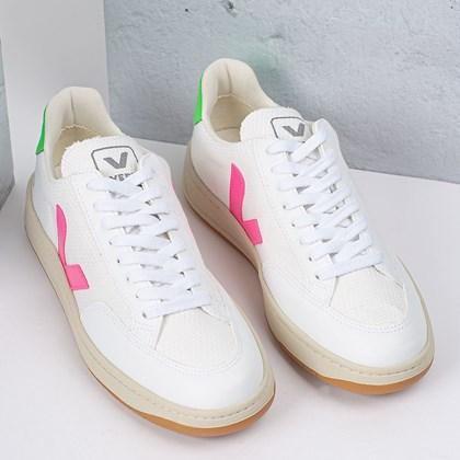 Tênis Vert Shoes V-12 B-Mesh Vegan White Sari Absinthe XD012498