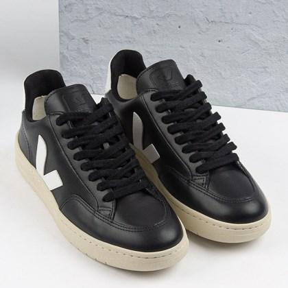 Tênis Vert Shoes V-12 Leather Black White XD022698