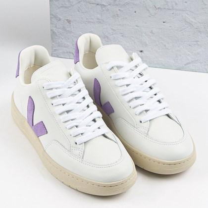 Tênis Vert Shoes V-12 Leather Extra White Lavande XD022704