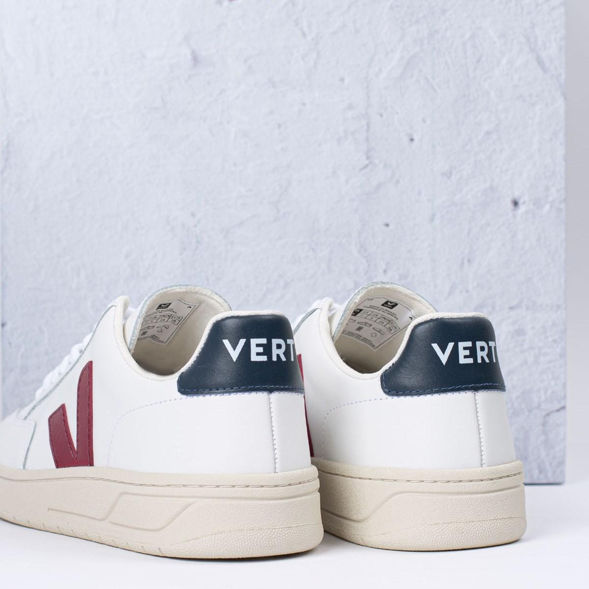 Tênis Vert Shoes V-12 Leather Extra White Marsala Nautico XD021955