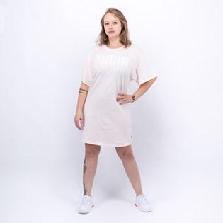 Vestido Puma Feminino Rebel Light Weight Tee Dress Rosawater 58131417
