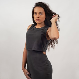 Vestido Vans Cali Native Muscle Dress Black VN0A3Z7JBLK