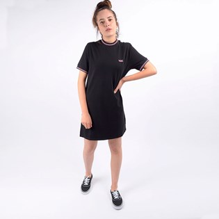 Vestido Vans Feminino All Stakes Checkerboar Dress Black VN0A4DQSBLK