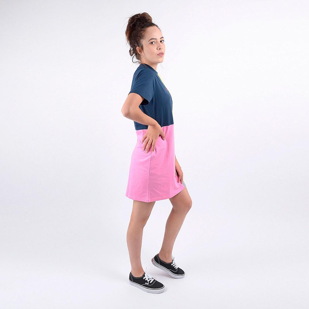 Vestido Vans Feminino Check Piece Dress Blues Checkwork VN0A4DQRVDJ
